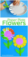 paper plate flower craft for kids scissor skills flower crafts