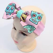 cotton bow headband sugar skull babypanda fi