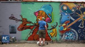Mural Project by Amazing Graffiti Works At Welling Court Mural Project 2016 In New
