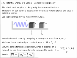 d a mass of is attached to one end of a spring and is free to