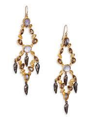 gunmetal chandelier earrings alexis bittar elements phoenix labradorite u0026 crystal dangle shard