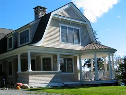 brooklin maine gambrel roof and a formal shingle style exterior