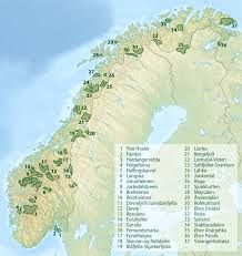 Map Of Norway List Of National Parks Of Norway Wikipedia