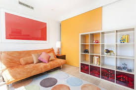 apartments colorful apartment room design orange couch with