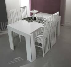elite modern white italian dining table
