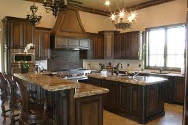 pictures of black stained kitchen cabinets country style kitchens with darn wood finishes
