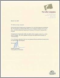brilliant ideas of recommendation letter sample for construction