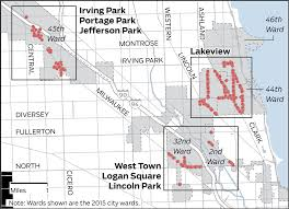 Chicago Lakeview Map by Paid Sunday Parking Chicago Tribune