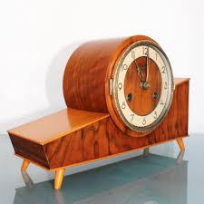 Antique Mantel Clocks Value Juba Schatz Germany Rare Model Vintage Clock Mantel Shelf 3 Bar
