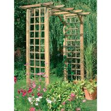 wide classic square timber garden arch trellis archway westmount