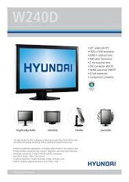 download free pdf for hyundai w240d monitor manual