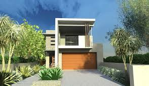 Floor Plans For Narrow Lots by New Narrow Lot Modern Infill House Plans Modern House Design
