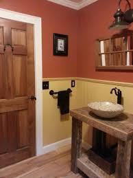Bronze Faucets For Bathroom by Witching Country Bath Vanity Lighting Using Fisherman Lamp Shade
