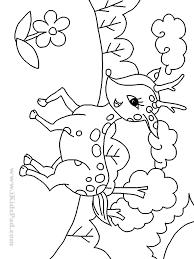 baby deer coloring page kids coloring