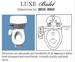 How To Install A Bidet Luxe Bidet Mb110 Fresh Water Spray Non Electric Mechanical Bidet