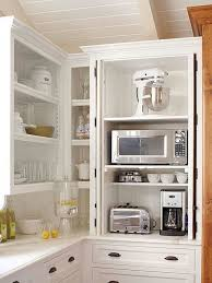 corner kitchen cabinet storage ideas best 25 kitchen appliance storage ideas on appliance