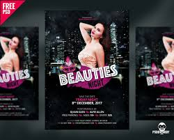 download beauties night flyer free psd psddaddy com