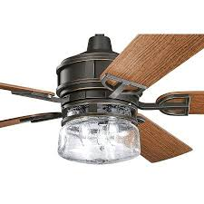 kichler ceiling fans with lights kichler ceiling fans distressed black indoor outdoor ceiling fan