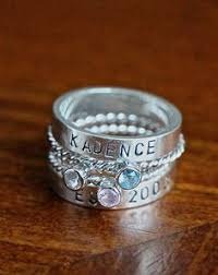 rings with birthstones and names name birthstone stackable rings s rings of two