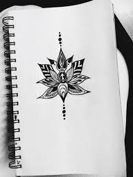 sketch lotus flower