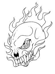 coloring pages of flames skull coloring pages coloringsuite com