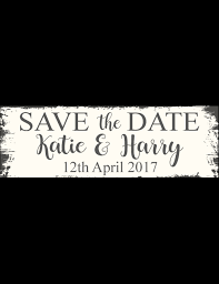 Save The Date Signs The Date Sign Rustic
