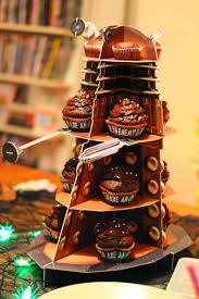halloween cupcake stands daleks of the day dalek cake stand of the week