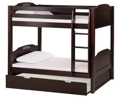 Bunk Bed Headboard Bunk Bed With Conversion Kit Trundle Panel Style Cappuccino