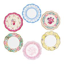 bridal shower plate floral party plates small bridal tea party paper plate