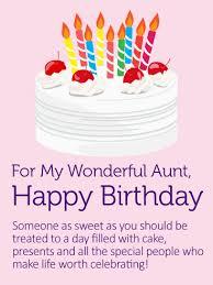 Sweet Birthday Cards Yummy Birthday Cake Card For Aunt This Sweet Birthday Card For