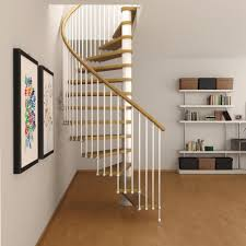 spiral staircases with shelf and laminate flooring also wall art