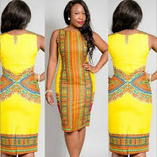 2015 traditional african womens clothing sleeveless yellow dashiki