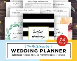 ultimate wedding planner wedding planner printable wedding planning book printable