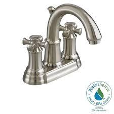 Moen Quinn Kitchen Faucet Moen Eva 4 In Centerset 2 Handle High Arc Bathroom Faucet In