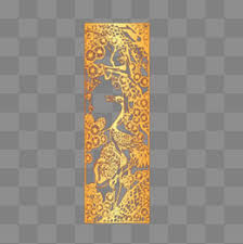 golden china pattern golden china wind png image for free