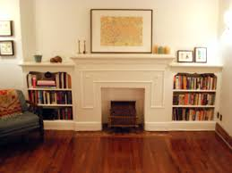 great faux fireplace white mantel also custom target bookshelves