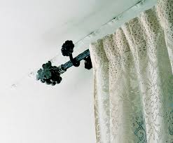 Decorative Functional Traverse Curtain Rods by Wrought Iron Curtain Rods