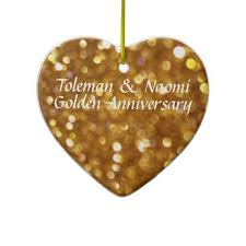 wedding anniversary ornaments 50th golden wedding anniversary personalized ceramic ornament