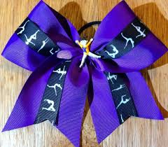 ribbon for hair that says gymnastics gymnastics hair bow on etsy 10 00 bows pinterest