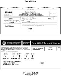 form 2290 tax computation table 3 12 10 revenue receipts internal revenue service