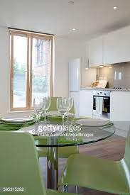 Modern Furniture London by One Church Square London Uk Close Up Of Glass Dining Table With