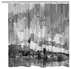 Black Gray Curtains Interdesign Leaves Shower Curtain Black Gray And Shower Curtain