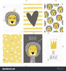 print cute lion can be used stock vector 674724823 shutterstock