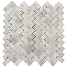 D Light Grey Basket Weave Stone Tile Pebble Tile Shop - Basket weave tile backsplash