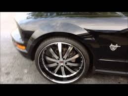 mustang 22 inch rims 2009 ford mustang sitting on 22inch wheels by rimtyme of south