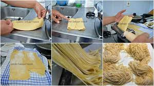 membuat mie sendiri tanpa mesin membuat mie sendiri hasilnya memang jempolan bebas bahan kimia