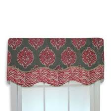 Coral Valance Curtains Buy Coral Window Valances From Bed Bath U0026 Beyond