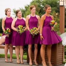popular purple halter neck dress buy cheap purple halter neck