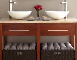 Rattan Bathroom Furniture Bathroom Creative Bathroom Shelves With Baskets Amazing Wicker