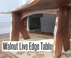 Walnut Live Edge Table by Walnut Live Edge Table Youtube
